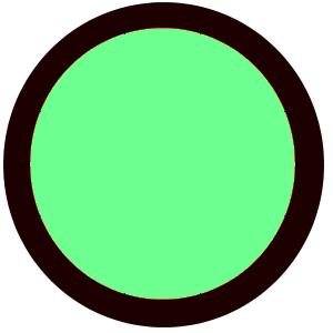 green n black circle