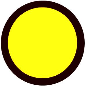 yellow n black circle
